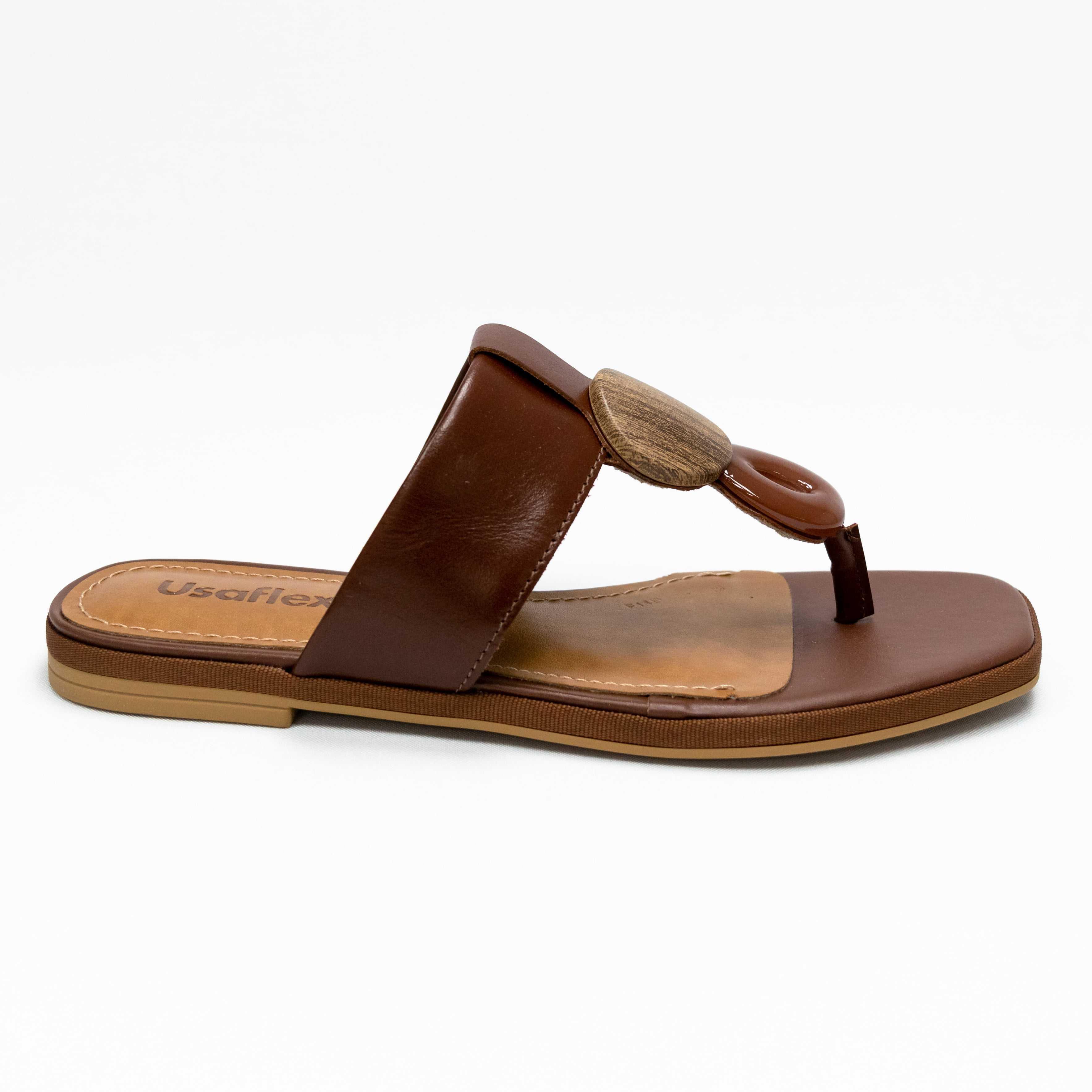 Chinelo Usaflex AC3908 Batik Marrom