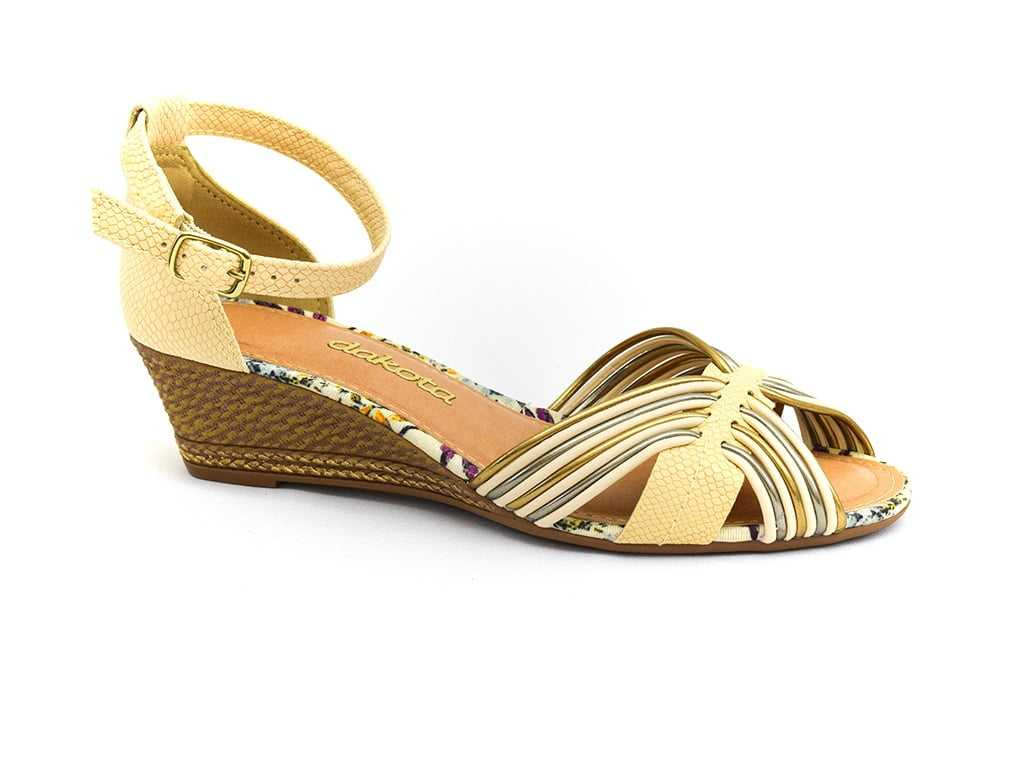 Sandália Dakota Turner Off White/Ouro Velho Z1272