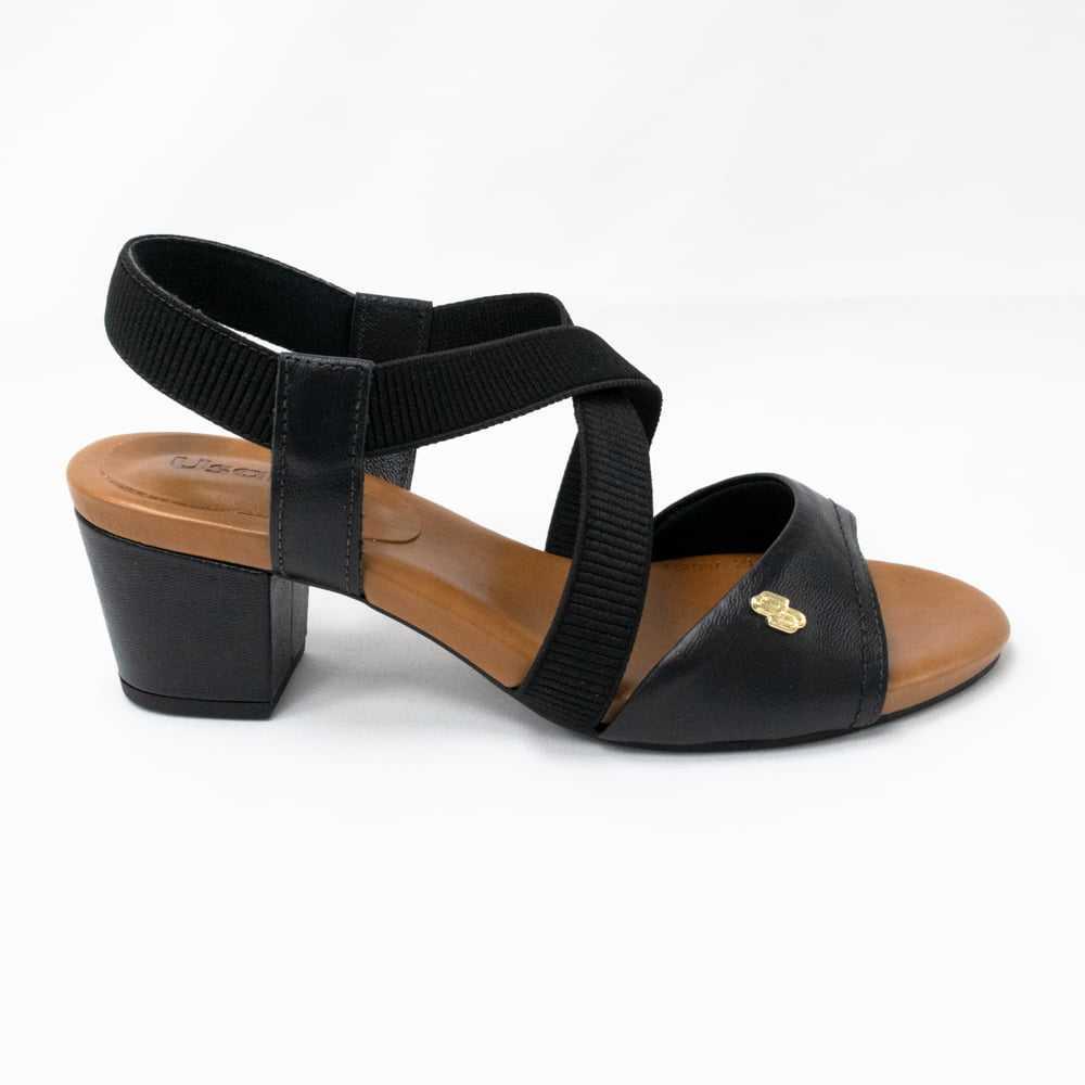 Sandália Usaflex Y8208 couro legítimo com elásticos