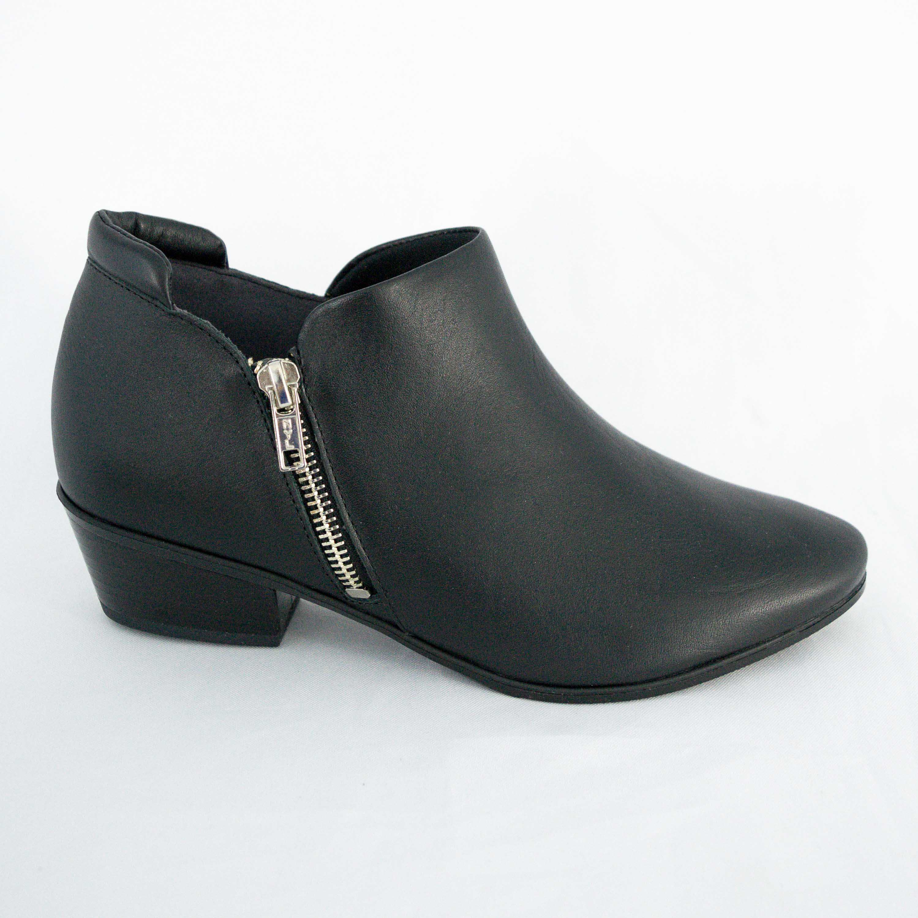 Ankle Boot Usaflex AB7807 Soft Slim palmilha Gel Preto