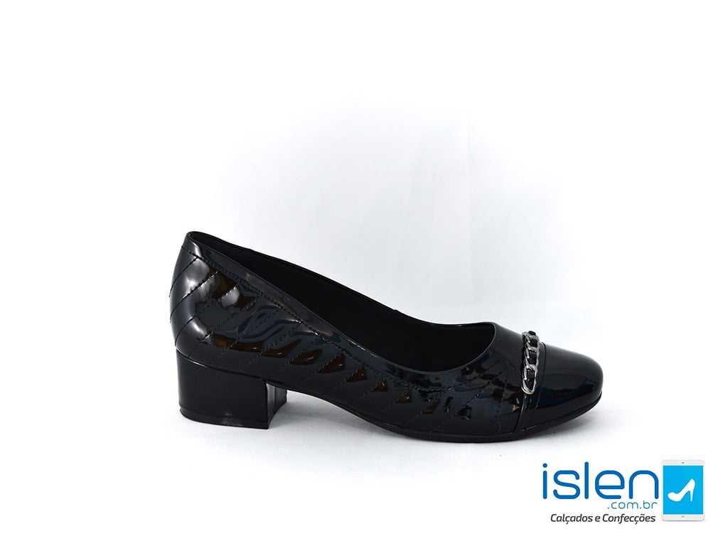 Sapato Comfortflex 1895302 Verniz Preto