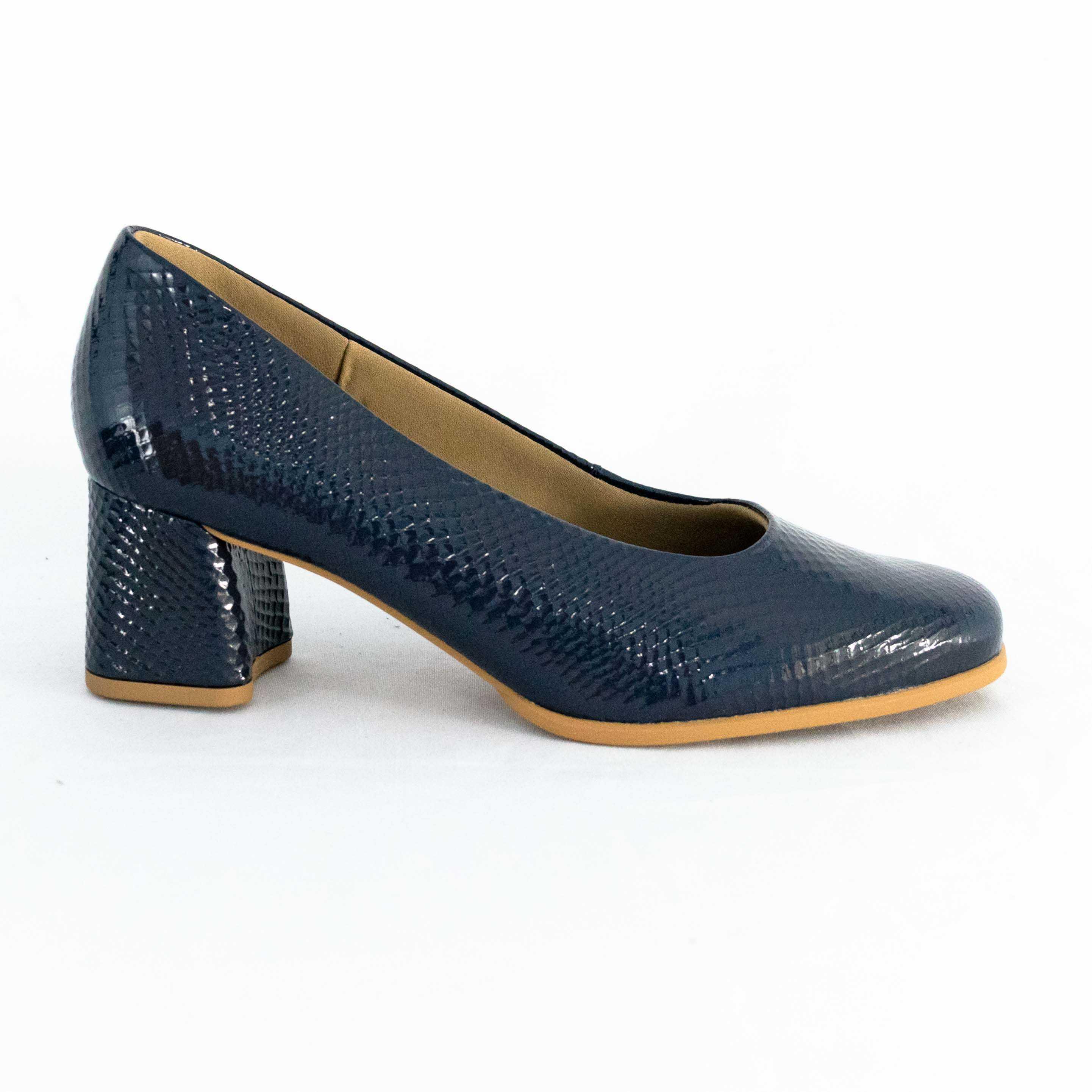 Sapato Usaflex AC3603 Verniz Linha Bio Care Marinho