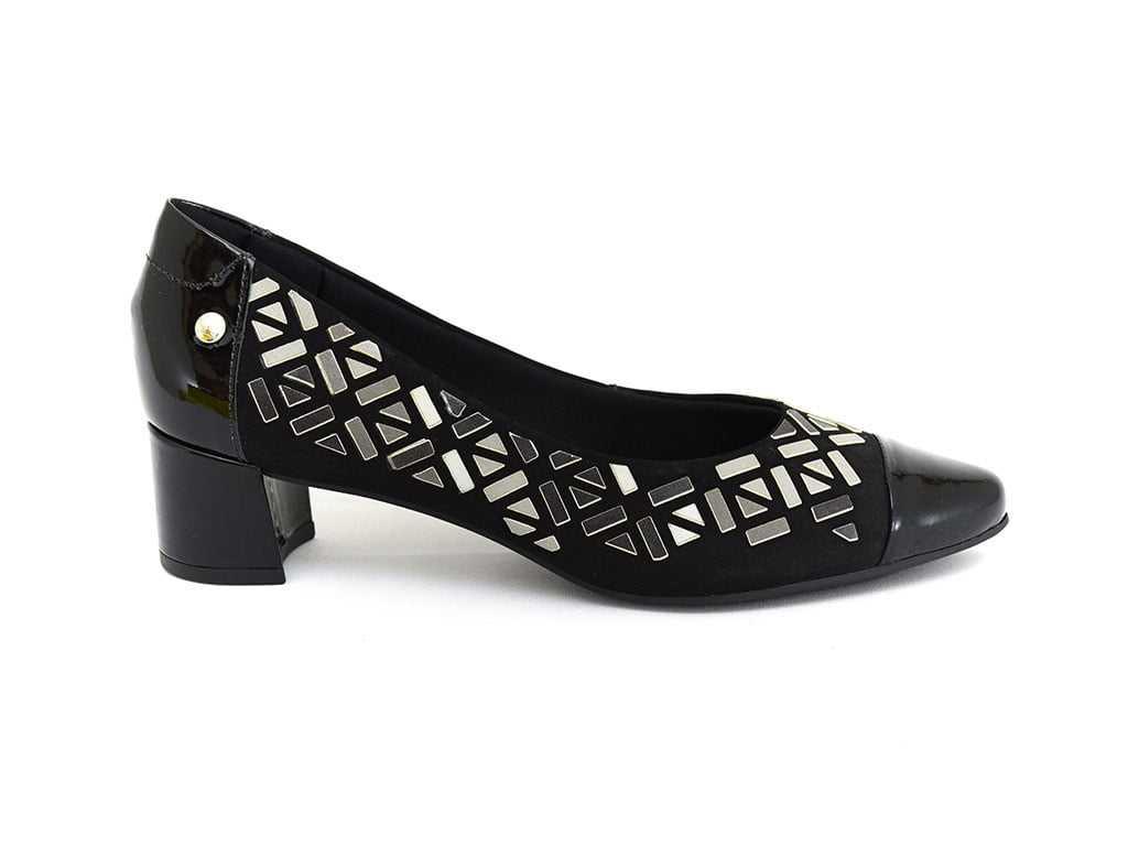 Sapato Usaflex V4202/01 Luxor Verniz Preto