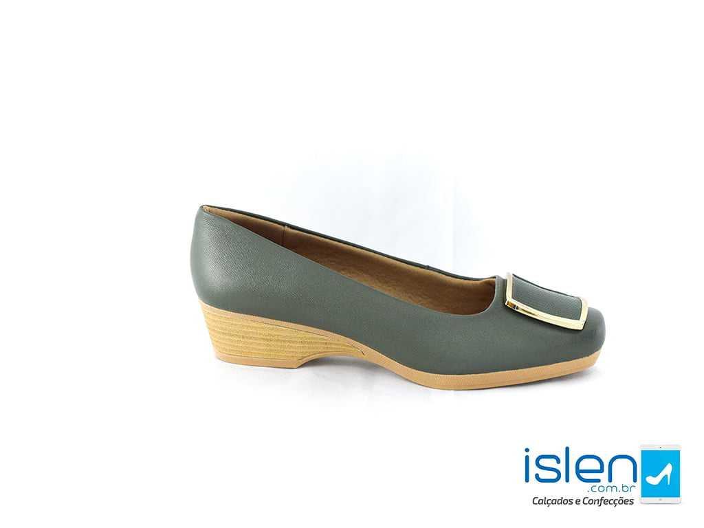 Sapato Usaflex Z2307 Caprina Verde Militar