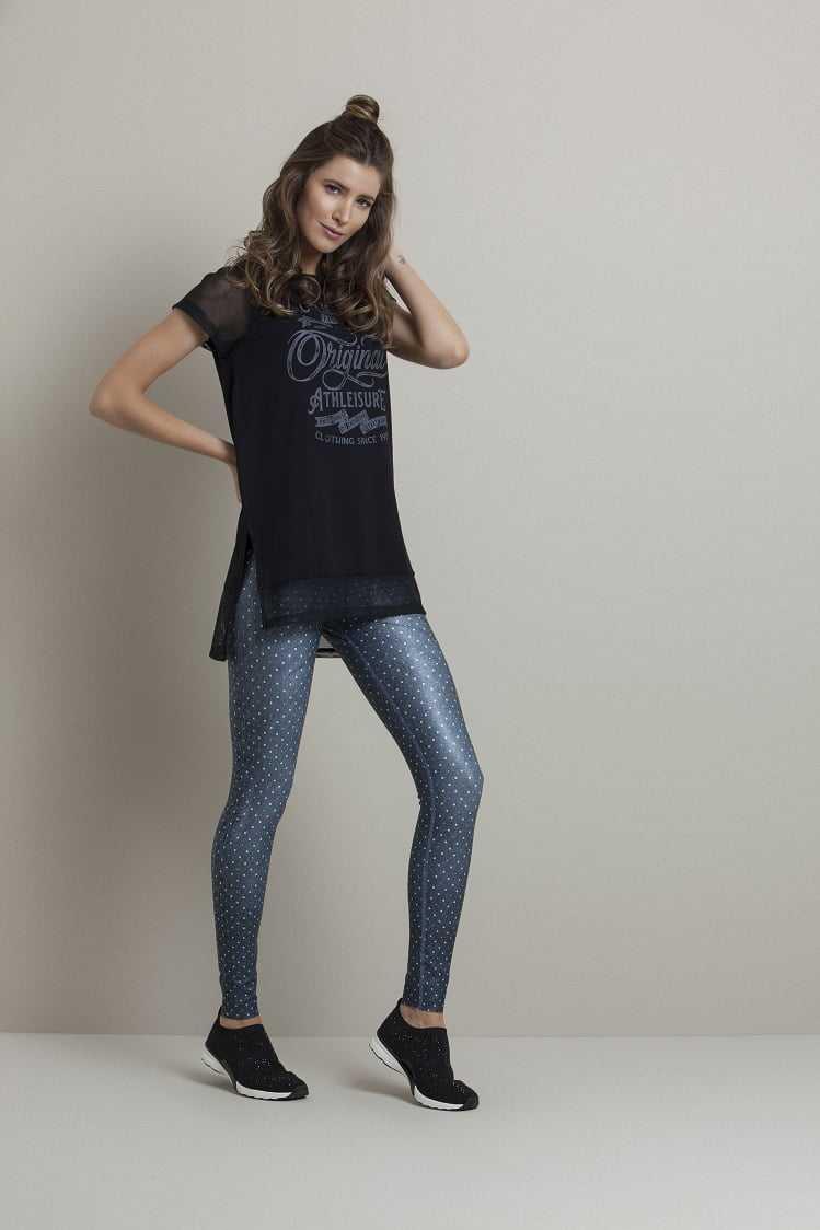 Legging Rola Moça 06371 Reversível 2 em 1 Jeans