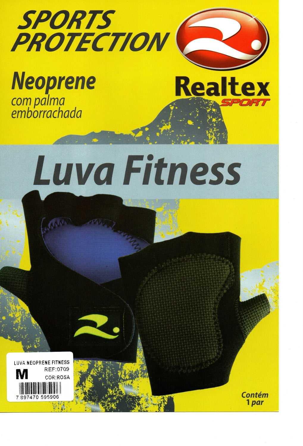 Luva Realtex 0709 Fitness para Academia e Ciclismo Bike