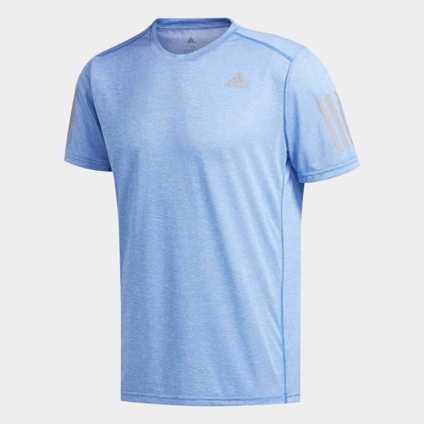 Camiseta Adidas FQ3711 Own The Run com detalhes Refletivos