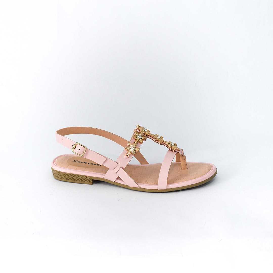 Sandália Pink Cats V0012 Verniz Ivy Rosa