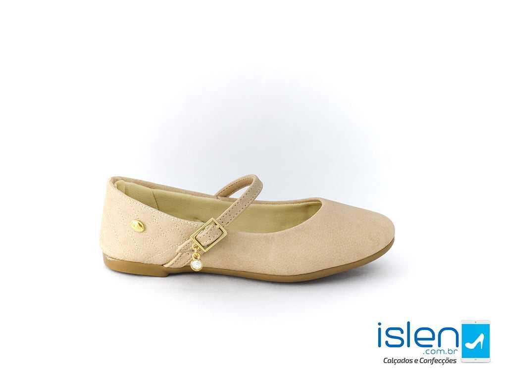 Sapatilha Klin Presa no peito do pé Creme/Dourado