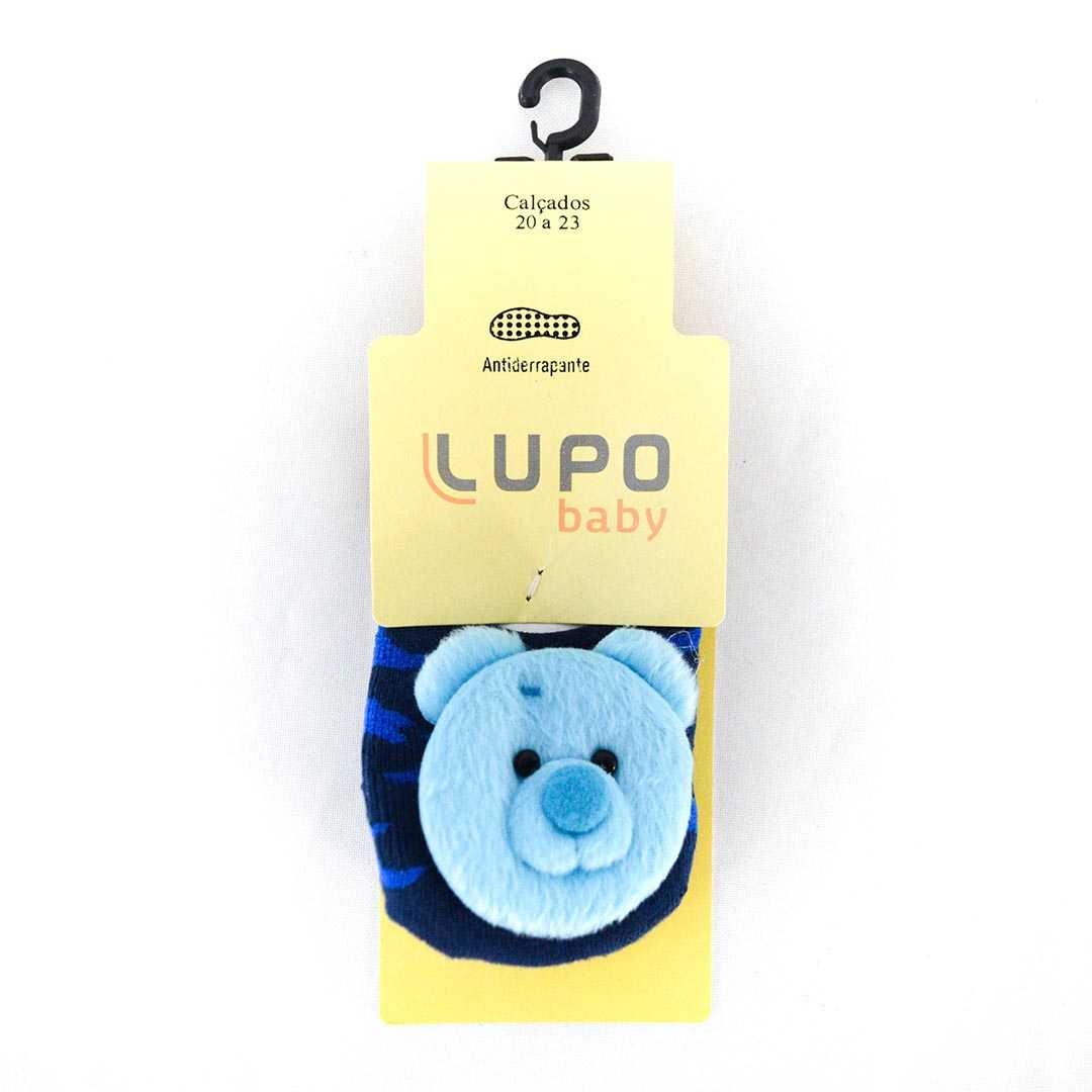 Meia Lupo 02017 Antiderrapante Baby Ursinho