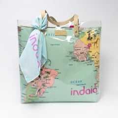 Bolsa Indaiá A-IND6738 Vinil com Lona Mapas