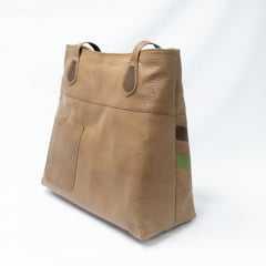 Bolsa JGean GB0005 Couro Natural Amêndoa/Caramelo