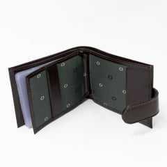 Carteira Fasolo H011006 Couro Legítimo com botão Pega Ladrão e Porta documentos