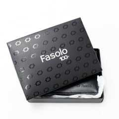 Carteira Fasolo K730006 Couro Legítimo com Porta Moedas e Cheques