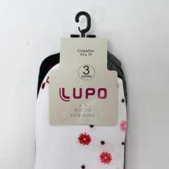 Kit de Meias Lupo 04421-089 com 3 Pares de meias sem punho super confortáveis