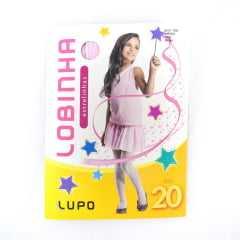 Meia Calça Lupo Fio 20 Estrelinhas Rosa Bebê