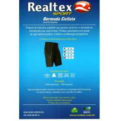Bermuda Realtex 0338 com base acolchoada para Ciclismo Bike
