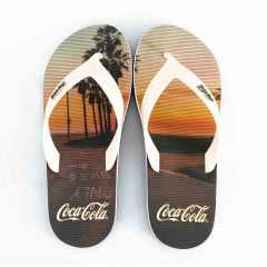 Chinelo Coca-Cola CC2684 Deck Fit Preto/Bege