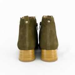 Bota Usaflex AB7505 Velour Cano Curto Verde