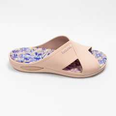 Chinelo BoaOnda 1949 Harmony Slide Nude/Preto/Rose