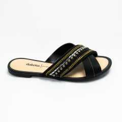 Chinelo Dakota Z5321 Garland Preto