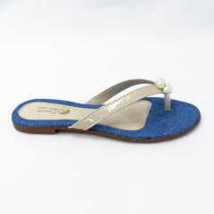 Chinelo Daniela Marques Ref 3001 Jeans/Nude