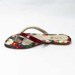 Chinelo Daniela Marques Ref 3005 Bordo Floral