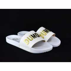 Chinelo Dumond 4113452 Branco/Dourado