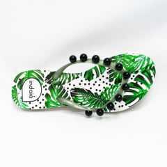 Chinelo Indaiá I-IND4010 estampa Costela de Adão Branco/Verde