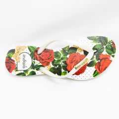 Chinelo Indaiá I-IND4343 estampa Rosas Vermelhas