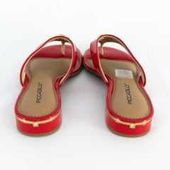Chinelo Piccadilly 558023 Verniz Vermelho