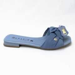 Chinelo Ramarim 20-25201 Couro Bovino Azul
