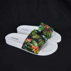 Chinelo Slide Boa Onda Classic 1737 Slide Floral Branco