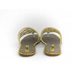 Chinelo Tanara Garland Branco/Dourado T0522