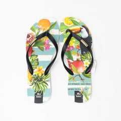 Chinelo WJ 167381 Branco Floral