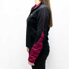 Casaco Rosa Tatuada 3303 Fitness Recorte Sublimado Color