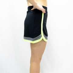 Saia Short Praxis V2098 Touch Preta/Verde/Cinza