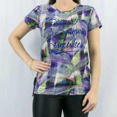 T-Shirt Rola Moça 56114 Estampada DG142