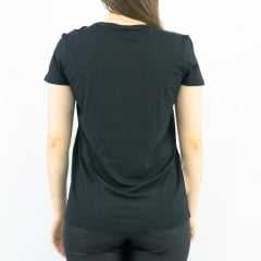 T-Shirt Rola Moça 56120 Preto/Cinza