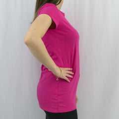 T-Shirt Rosa Tatuada Fitnes Coton 4530