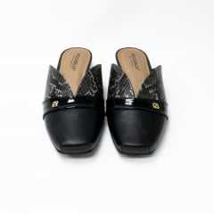 Mule Piccadilly 147149-2 Preto/Ouro
