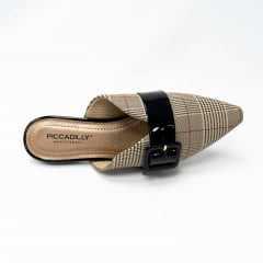 Mule Piccadilly 278035-6 Xadrez/Preto