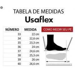 Mule Usaflex AC0908 Tecido Lycra Shine Preto