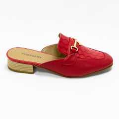 Mule Verofatto 6015023 Maite Couro London Vermelho/Amarelo
