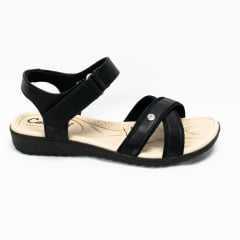 Sandália Campesí L6816 Cacharel com Velcro Preto