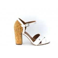 Sandália Cravo e Canela Branco/Bege 151801-1