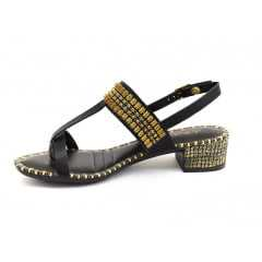 Sandália Dakota Garland Preto/Dourado Z1402