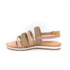 Sandália Dakota  Z2473 Taliba Rosa/Specchio Ouro