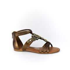 Sandália Dakota Z3653 Rasteirinha Groovy Bronze
