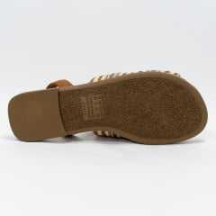 Sandália Dakota Z5312 Avarca Tecido Bege